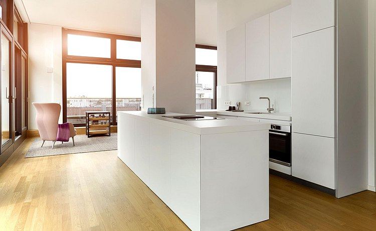 bulthaup kitchen with kitchen island white
