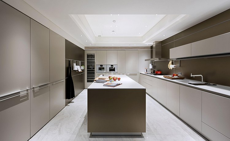 bulthaup kitchen with kitchen island in soft touch lacquer